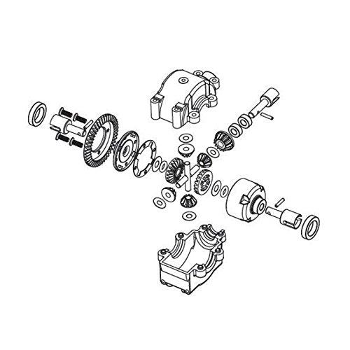 Carson 500405326 - Modellbauzubehör: FY8/5 Differenzial, vorne/hinten, komplett