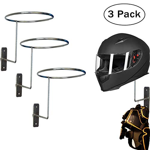 (Wall Hooks Coat and Hat Rack - Heavy Duty Wall Mounted Entryway Organizer Hanger for Coats, Hats, Caps & Helmet Mount - Sturdy & Decorative Solution to Organize, Storage Or Display - 3 Pack)