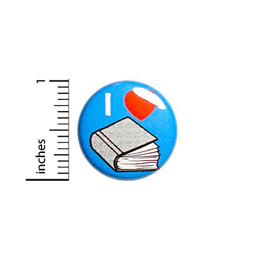Book Love Button Pin I Love Books Cute Reading Jacket Backpack Pin 1