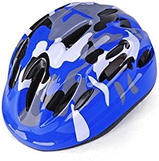Flowerrs Scooter Helmet Casco di sicurezza per ciclismo Circonferenza testina regolabile per caschi da equitazione per bambini (blu reale) Casco da skate