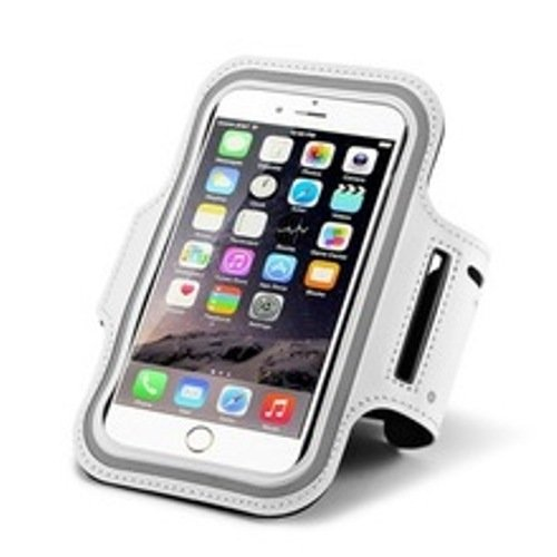 High Stairway Sport Arm Band Case Cycling Adjustable mobile phone For IPhone and Android Phone (White) by HIGH STAIRWAY GROUP