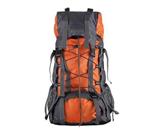 Yy.f 55L Acampar Al Aire Libre Viaje Mochila Agua Mochilas De Senderismo Rutas De Bolsa De Viaje Mochila Multifuncional. 3 Colores Orange