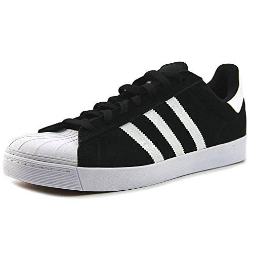 Adidas Mens Superstar Vulc Adv Black/white/goldmt Skate Shoe (12)