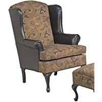 Serta Upholstery 2200WBC 2200WBC08 Traditional Style Wing Back Chair in GT3, Navy
