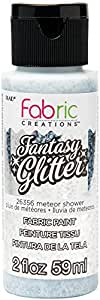 Fabric Creations 26356 Fantasy Glitter Fabric Ink Paint, 2 oz Meteor Shower