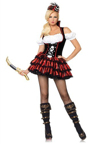 Leg Avenue Women's Shipwreck Pirate Costume, Multi, X-Large -
