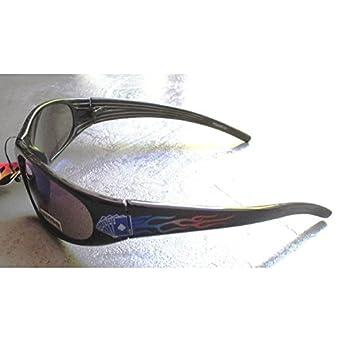 9dca69dfa31d5a hotrodspirit - lunette de soleil poker flammes bleu rock roll homme biker