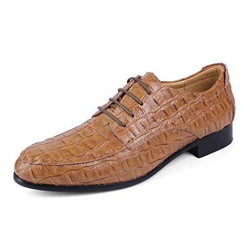 Del Cordones amp;m Hombre De M Conducción Yellow Zapatos Modelo Cocodrilo Casual Departamento Negocios R8xwqp