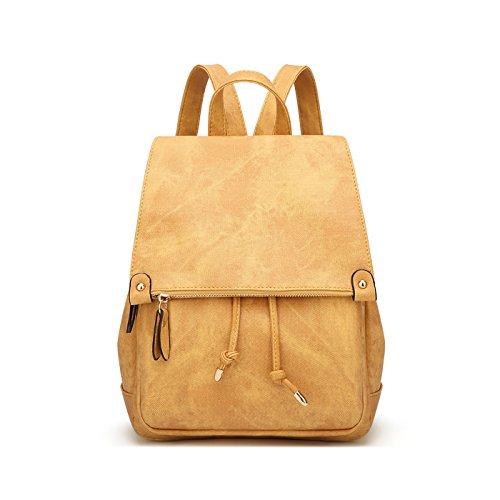 Tisdaini Dama mochilas de nylon moda casual impermeable viaje bandolera mochilas escolares Naranja