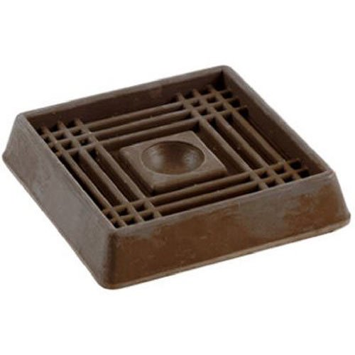 Shepherd Hardware 9076 2-Inch Square Rubber Furniture Cups, 4-Pack