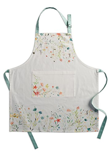 Maison d' Hermine Colmar 100% Cotton Apron with an adjustable neck & visible center pocket, 27.50 - inch by 31.50 - - Easter Apron