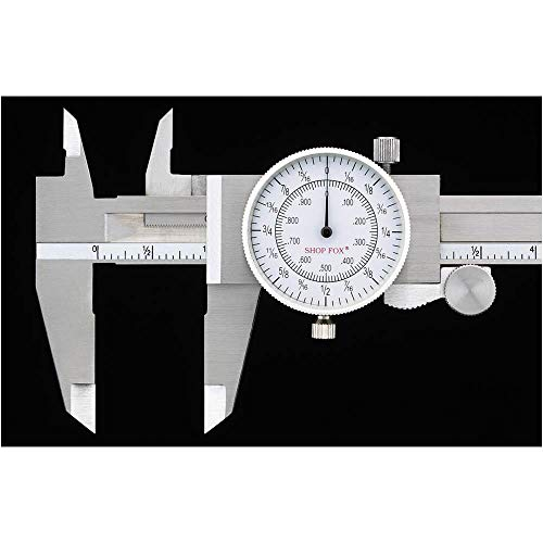 Shop Fox D3208 Fractional Dial Caliper ()