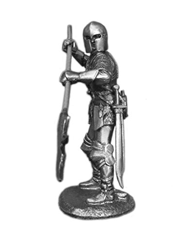 Knight with Halberd Medieval UnPainted Tin Metal 54mm Act...