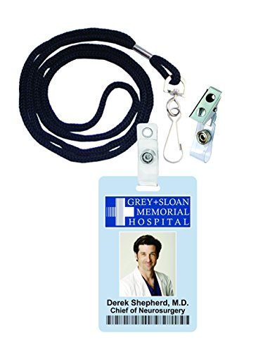 Derek Shepherd, Grey's Anatomy Novelty ID Badge Film Prop for Costume and Cosplay • Halloween and Party Accessories