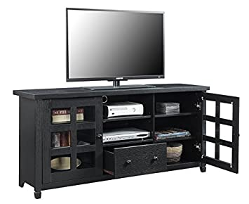 Convenience Concepts Newport Park Lane TV Stand, Black