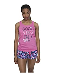 Sleep & Co Women's 2 Piece Printed Tank Top and Shorts Sleepwear Pajama Set