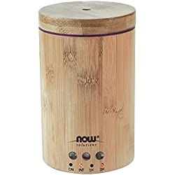 NOW Ultrasonic Real Bamboo Essential Oil Diffuser