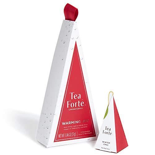 Tea Forte Warming Joy Petite Tea Tree, Stocking Stuffer Tea Sampler Gift Set