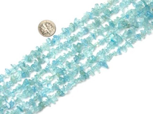 SHG Store 7-8mm Blue Aquamarine Chips Beads Strand 15 Inch Jewelry Making Beads Agate Chips for Bracelet Necklace Earrings Jewelry Making Crafts Design Healing Wholesale Loose Beads