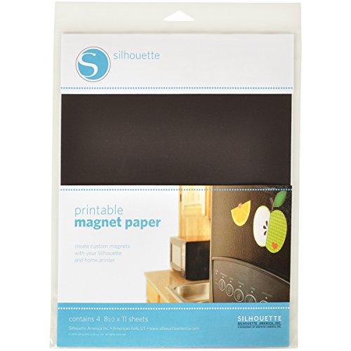 (Silhouette Blue Glitter Heat Transfer Printable Magnet)