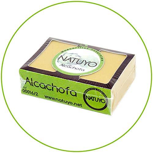 - Mascarilla de jabón NATUYO fortalecedora del cabello de ALCACHOFA.- Lo hace más manejable, lo repara y fortalece su crecimiento. Para cabellos cortos y grasos. Es anti-caspa.