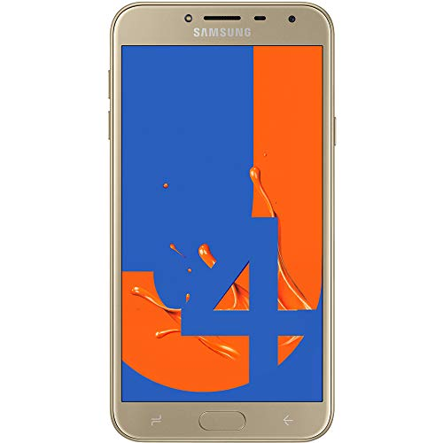 "Samsung Galaxy J4 (32GB, 2GB RAM) 5.5"" 4G LTE GSM Dual SIM Factory Unlocked J400M/DS International Version, No Warranty (Gold)"