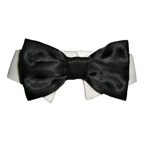 Black XXX-Large Black XXX-Large Pooch OutFitters Dog Satin Bow Tie (3XL) (Black)