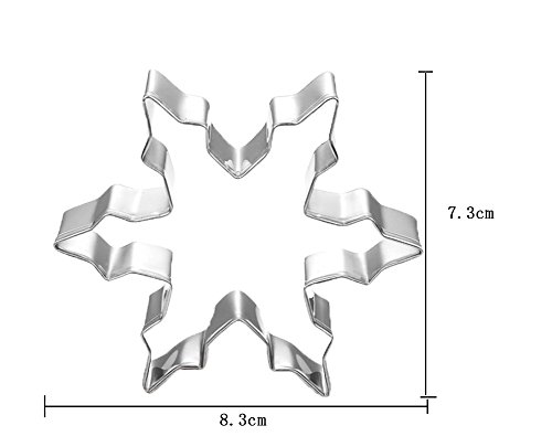 Umiwe(TM) Stainless Steel Snowflake Cookie Cutter Cookie Mold With Umiwe Accessory Peeler