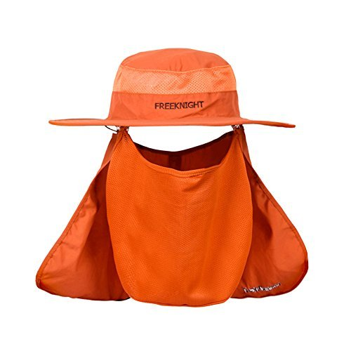 7daaaa3875c Lean In UV 50+ Protection Outdoor Multifunctional Flap Hat Neck Protection  Cap with Removable Sun Shield and Mask Perfect for Fishing Hiking Garden  Work ...