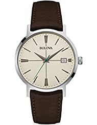 Bulova Mens 96B242 20mm Leather Calfskin Black Watch Bracelet