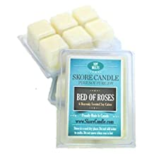 Bed Of Roses NEW 2 - Pack NEW Scented Soy Melts from Skore Candle. 12 Cubes made with pure, natural soy wax. Wax warmer required. Infuse fragrance in your home.