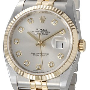 the latest b8a5b 654c2 Amazon   [ロレックス]Rolex デイトジャスト メンズ 116233G-SV ...
