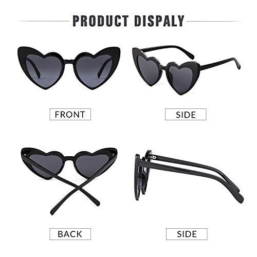 d036f3cb7f Clout Goggle Heart Sunglasses Vintage Cat Eye Mod Style Retro Kurt ...