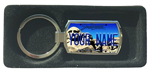 (BleuReign(TM) Personalized Custom Name 2016 South Dakota State License Plate Metal Keychain)