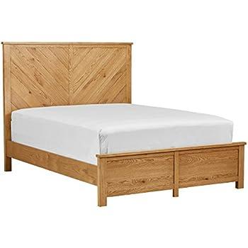Amazon Com Rustic Farmhouse Platform Bed W Headboard