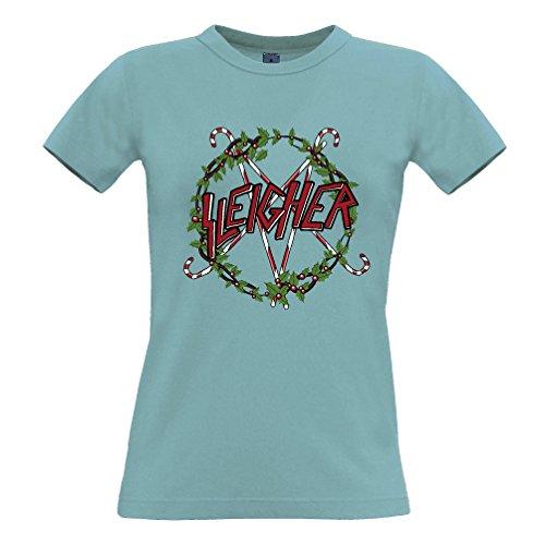Tim and Ted Regalo Sleigher Stampato Slogan Citazione Design Premium di Qualità della Novità T-Shirt da Donna