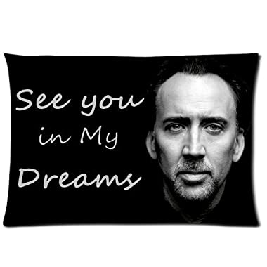 Amy Like Pillowcases Custom Nicolas Cage Rectangle Pillow Cases 20*30 inches (one side) Comfortable For Lovers And Friends