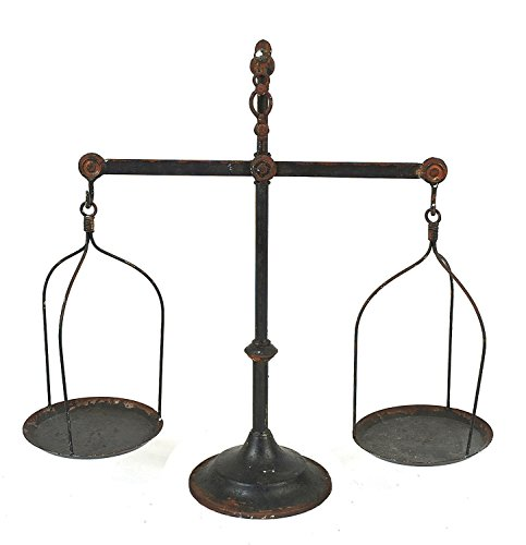 Creative Co-Op Decorative Iron Scale with Bird Antique Scale