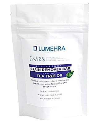 Lumehra Clean Living All Natural Tea Tree Oil Stain Remover Bar