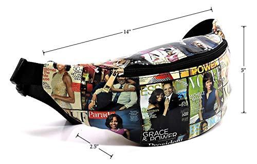 Bag Michelle black Bag Obama Satchel Cover Glossy Shoulder Clutch White Magazine Body Cross Collage Q51 1qdnZ8UOx