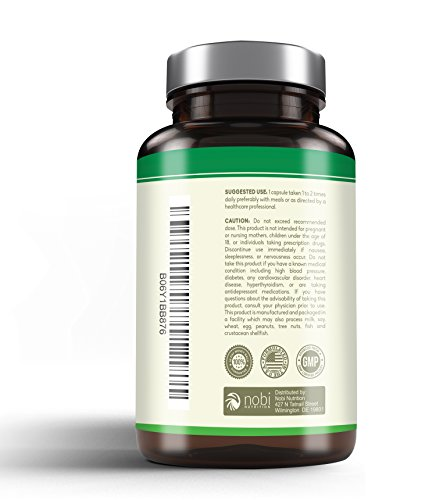 Nobi Nutrition's Green Tea Extract Supplement with EGCG for Weight Loss - Metabolism Boost and Heart Health - Caffeine Boost & Energy Supplement - All Natural Antioxidant by Nobi Nutrition (Image #2)