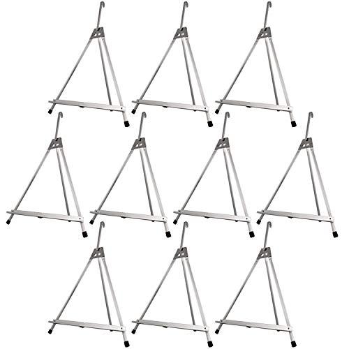 US Art Supply Table Top Aluminum Tri-Pod Artist & Display Easel 10-Pack (Large - Single Arm)