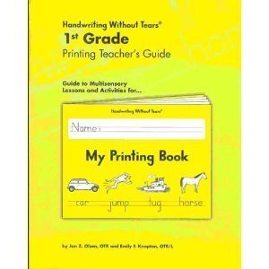 Handwriting Without Tears 1st Grade Printing Teacher's Guide