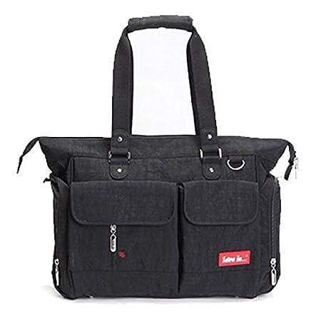 Designer Baby Lightweight Changing Bag Set 5PCS Diaper Bag, 8 Colours (Black) Love is