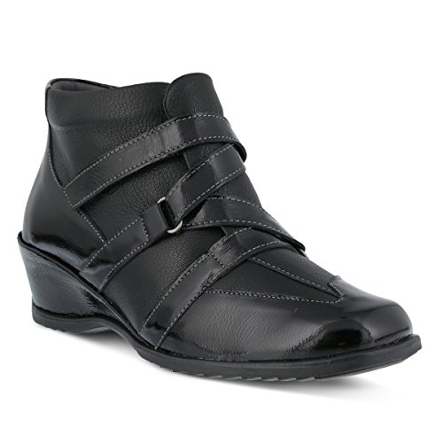 Spring Step Women's Allegra Ankle Bootie, Black Patent, 39 EU/8.5 M - Allegra Womens Spring Step