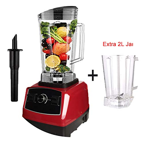 Quality G5200 Bpa Free 3Hp 2200W Heavy Duty Commercial Blender Juicer Ice Smoothie Professional Processor Mixer,Red Extra Jar,Us Plug