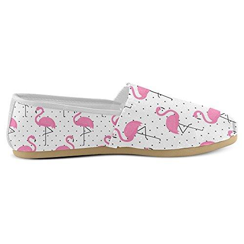 Interestprint Womens Loafers Klassiska Avslappnade Kanfassnedsteget På Mode Skor Gymnastik Mary Jane Platt Flamingo