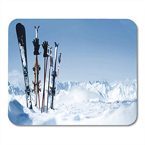 Snowboard Equipment Rentals - Gaming Mouse Pad Snowboard Skis in The Snow Equipment Rental 7.18.7 Inches Decor Office Computer Accessories Nonslip Rubber Backing Mousepad Mouse Mat