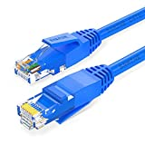 SAMZHE Ethernet Cable, 65ft Heavy-Duty CAT.6 RJ45 UTP LAN Cable High Speed Gigabit Network Patch Cord (Blue)