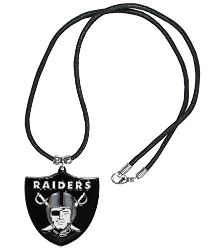 Necklace Beaded Nfl - Siskiyou NFL Oakland Raiders Cord Necklace, 21
